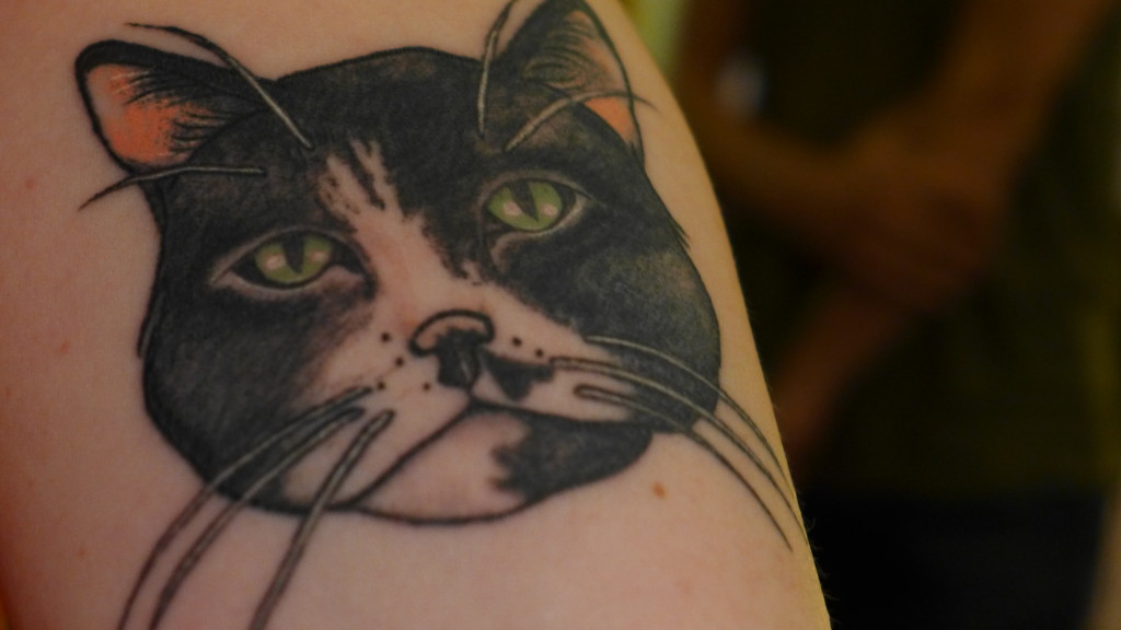 Kate's Igor tattoo, Sofa Salon. Photo: Megan Spencer (c) 2015