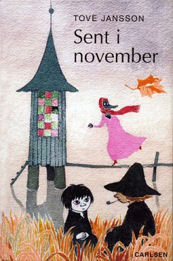 Cover art for the first edition of 'Moominvalley in November', by Tove Jansson (1970).
