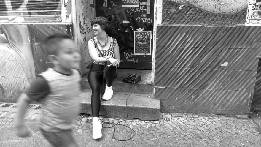 """""""Out in the street"""": in Neukölln, Tatyana Krimgold. Photo: Megan Spencer (c) 2016"""