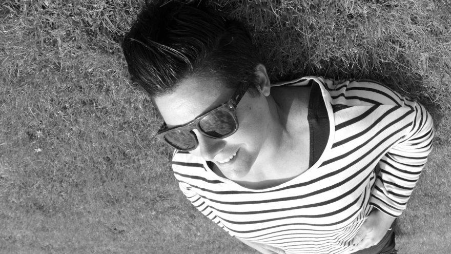 In black & white: Penelope Scanlan. Photo: Megan Spencer (c) 2016